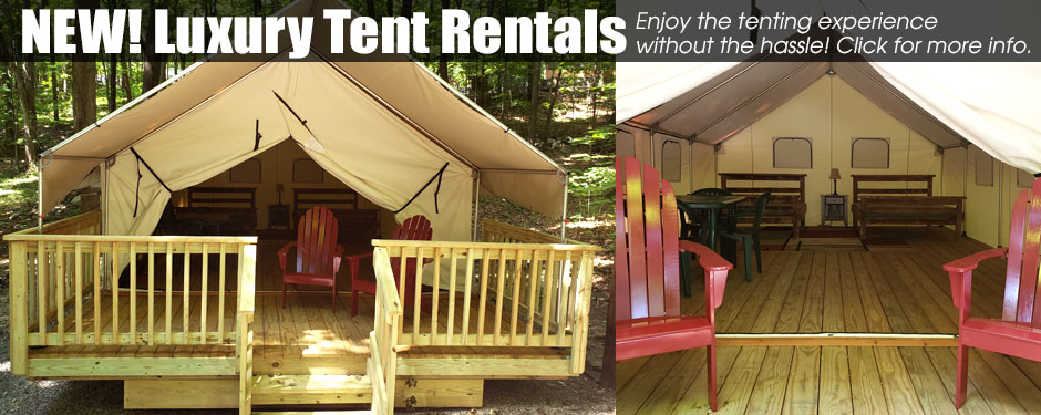 A link to the luxury tent rentals at Kymer's