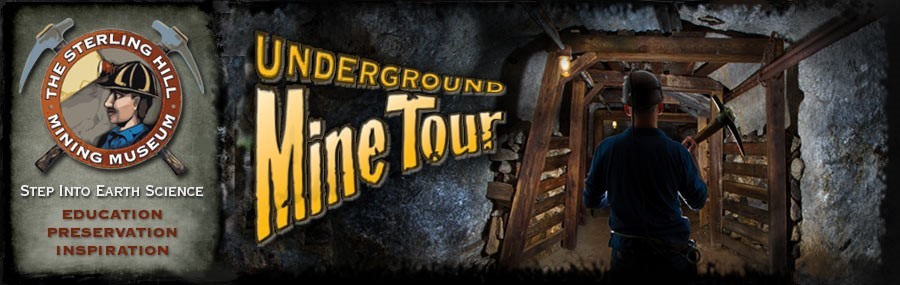 A graphic for the nearby Underground Mine Tour